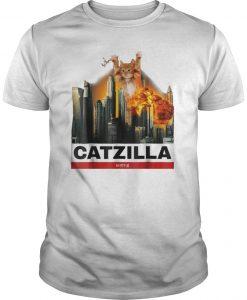Cat Catzilla Godzilla Shirt