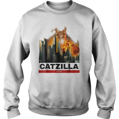 Cat Catzilla Godzilla Sweater