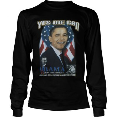 Cindy Hounduran Obama Yes We Can Longsleeve Tee