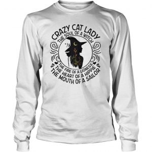 Crazy Cat Lady The Soul Of A Witch ShirtCrazy Cat Lady The Soul Of A Witch Longsleeve Tee