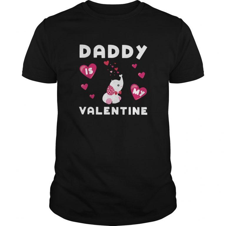 Daddy Is My Valentine Elephant Shirt