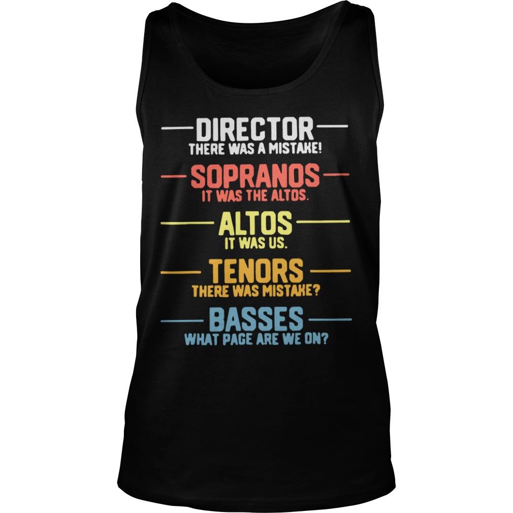 Director Sopranos Altos Tenors Basses Tank Top
