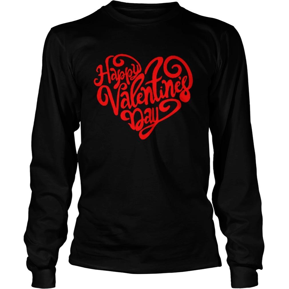 Happy Valentine's Day Heart Longsleeve Tee