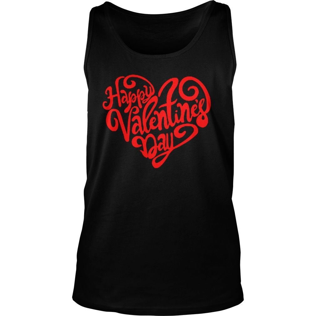 Happy Valentine's Day Heart Tank Top