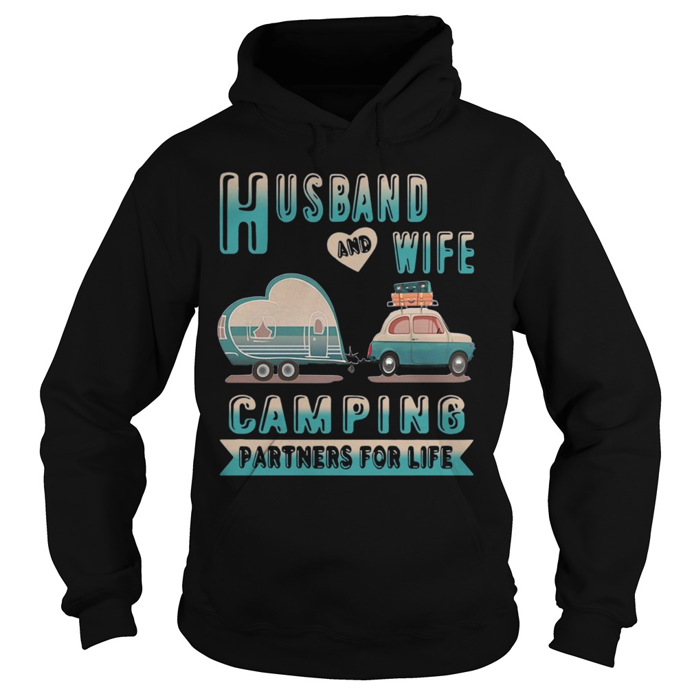 Husband And Wife Camping Partners For Life Hoodie