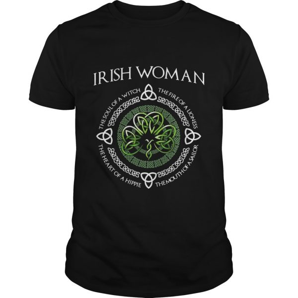 Irish Woman The Soul Of A With The Fire Of A Lioness Shirt