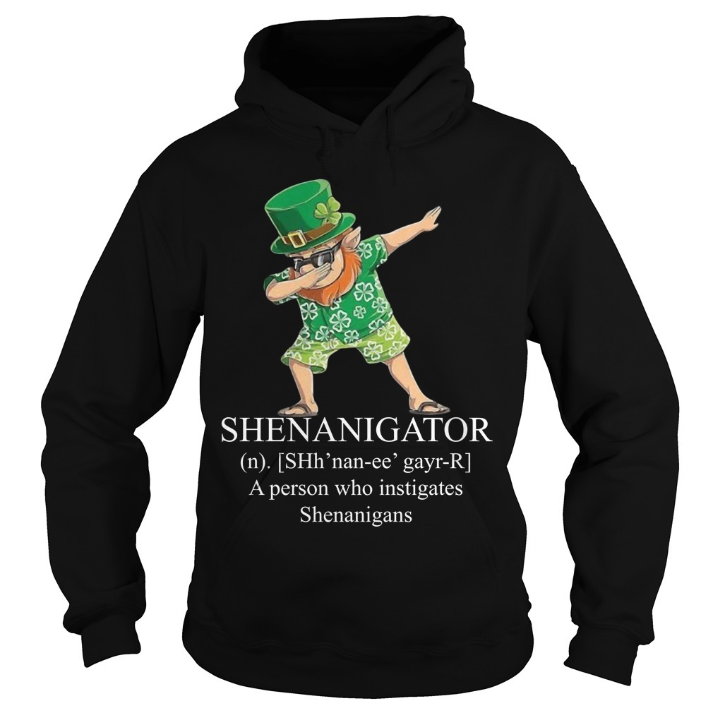 Leprechaun Hawaiian Dabbing Shenanigator A Person Who Instigates Shenanigans Hoodie