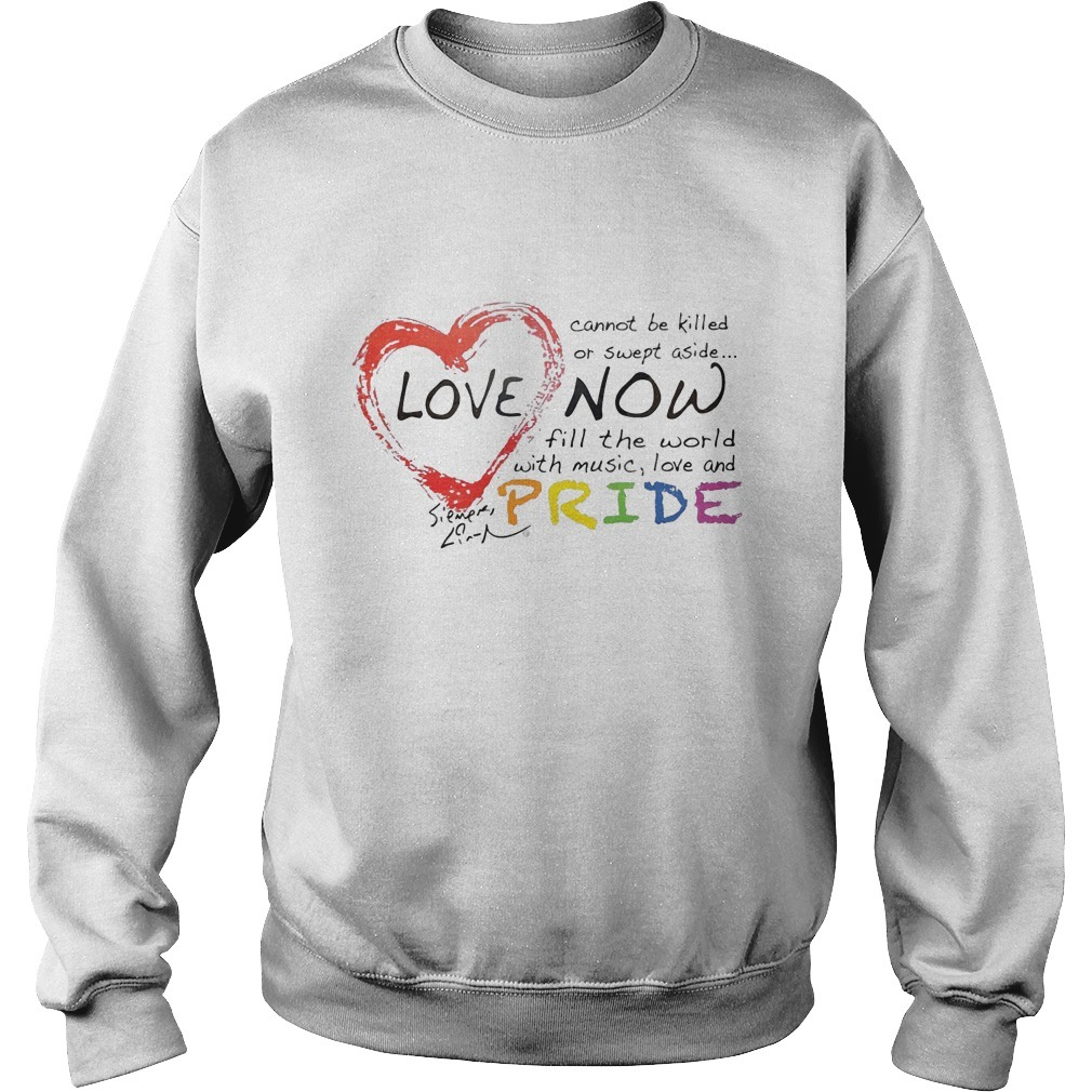 Lin-manuel Miranda Love Cannot Be Killed Or Swept Aside Now Fill The World With Music Love And Pride Sweater