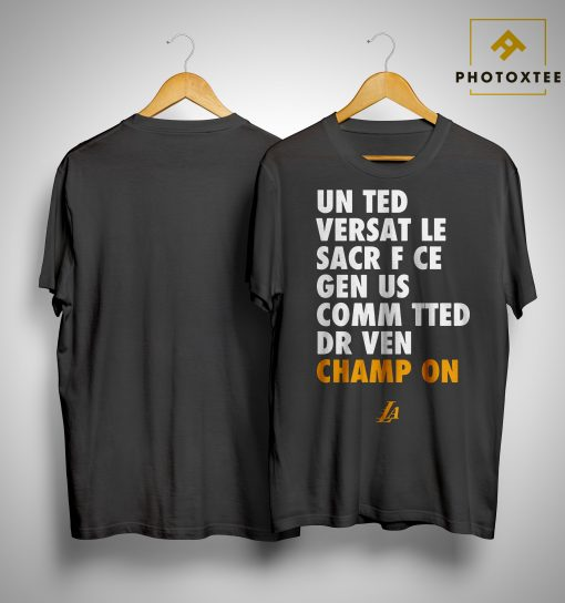 Mark Madsen Lakers Un Ted Versat Le Sacr F Ce Gen Us Comm Tted Dr Ven Champ On Shirt