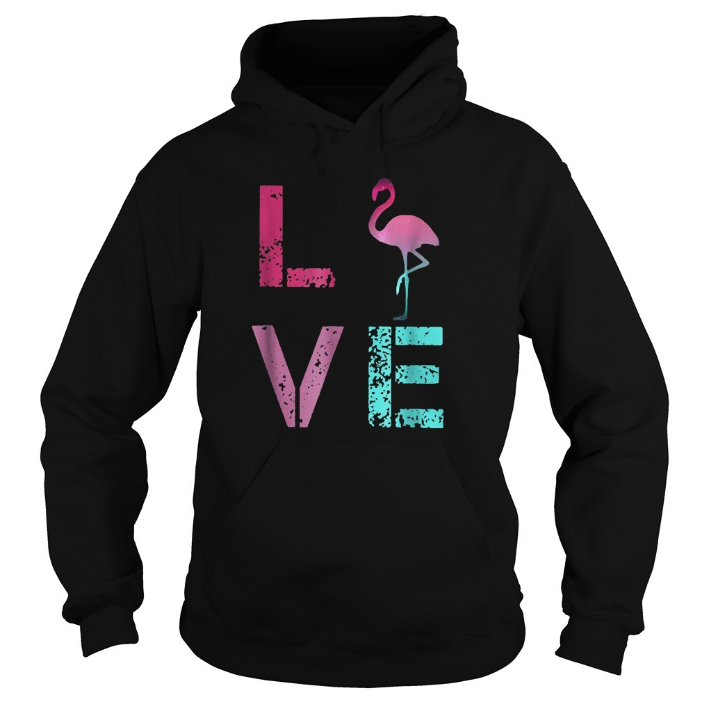 Pink Flamingos Valentine Hoodie
