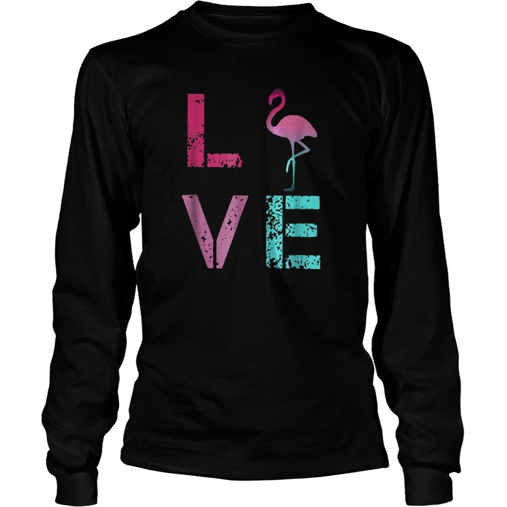 Pink Flamingos Valentine Longsleeve Tee