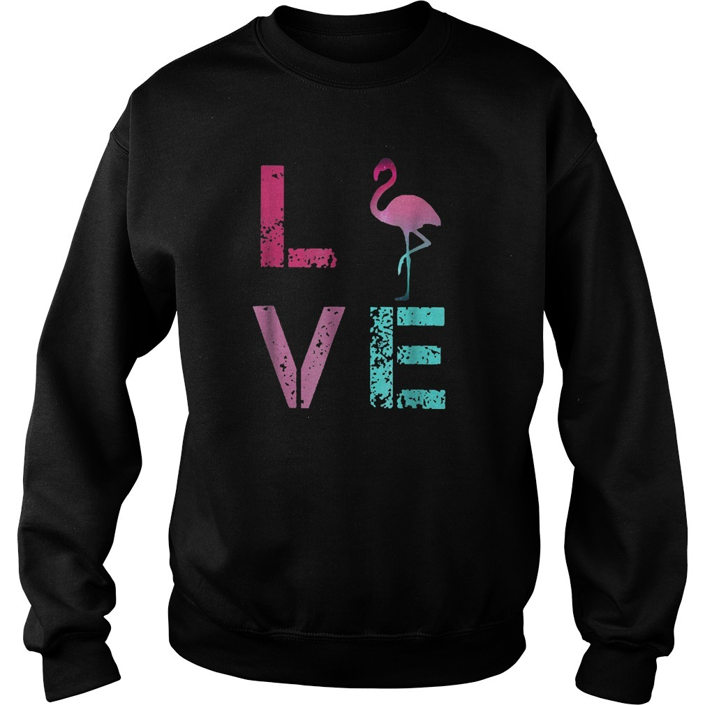 Pink Flamingos Valentine Sweater