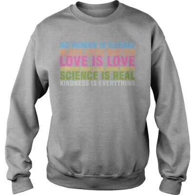 Sarah Silverman No Human Is Illegal Black Lives Matter Love Is Love Sweater