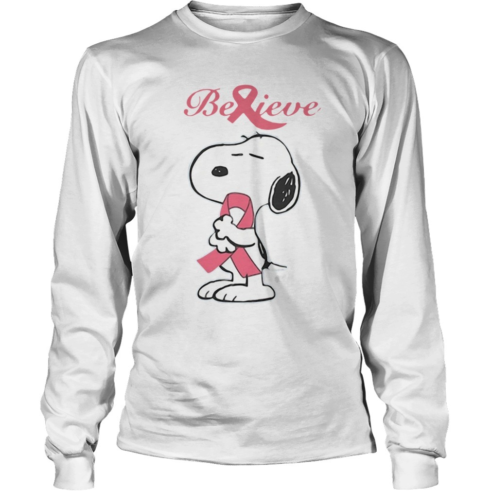 Snoopy Belive Breast Cancer Longsleeve Tee