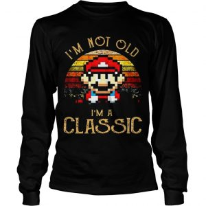 Sunset Mario I'm Not Old I'm A Classic Longsleeve Tee