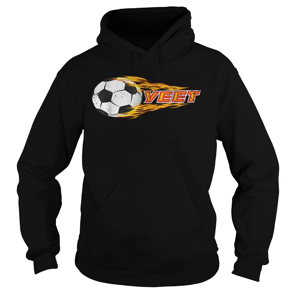 Yeet Soccer Football Fireball Hoodie