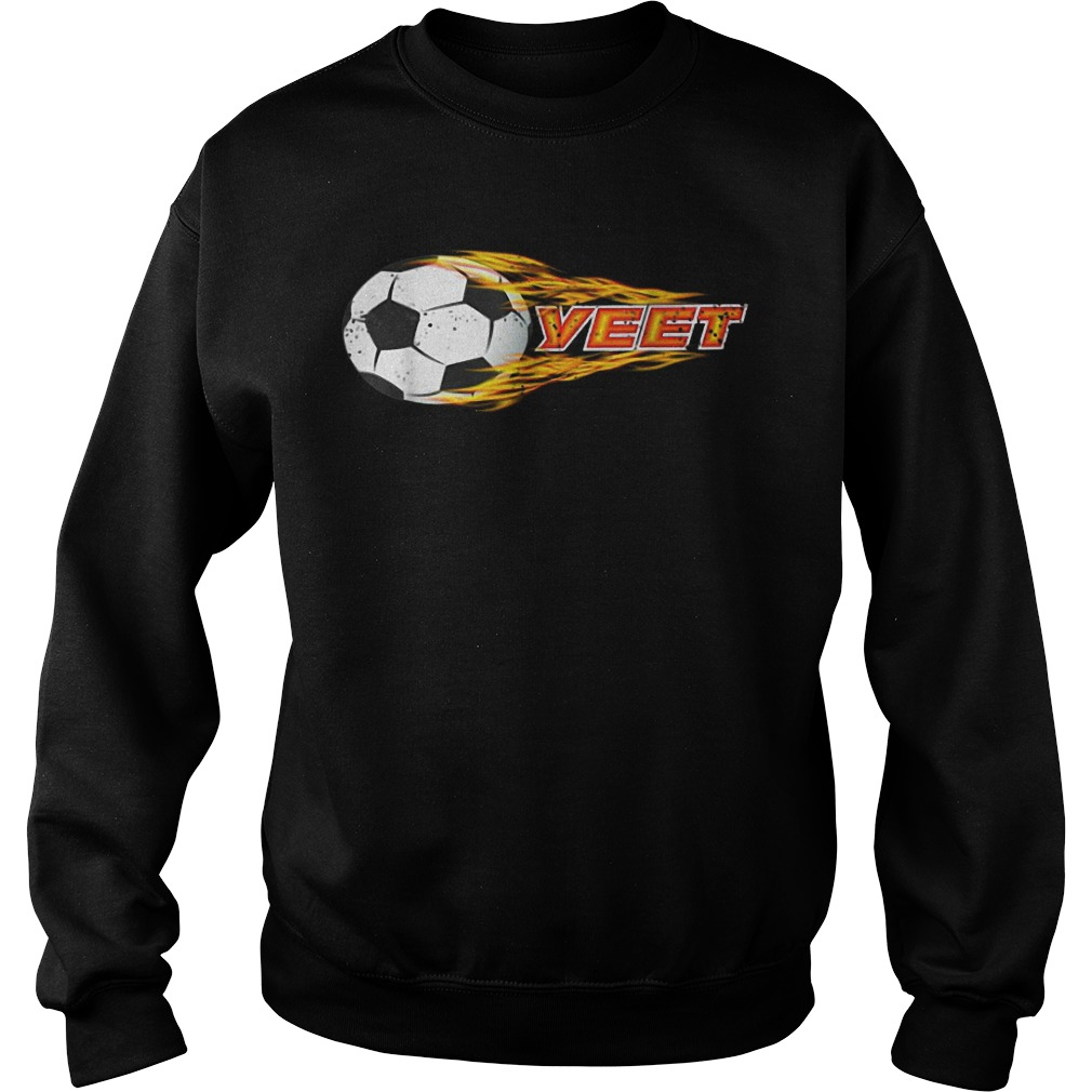 Yeet Soccer Football Fireball Sweater