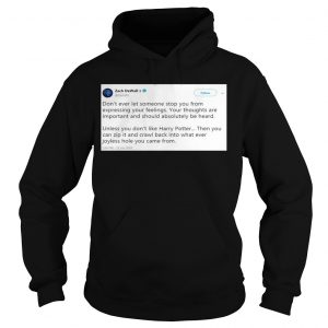 Zach De Wall Twitter Status Don't Ever Let Someone Stop You From Expressing Your Feelings Hoodie