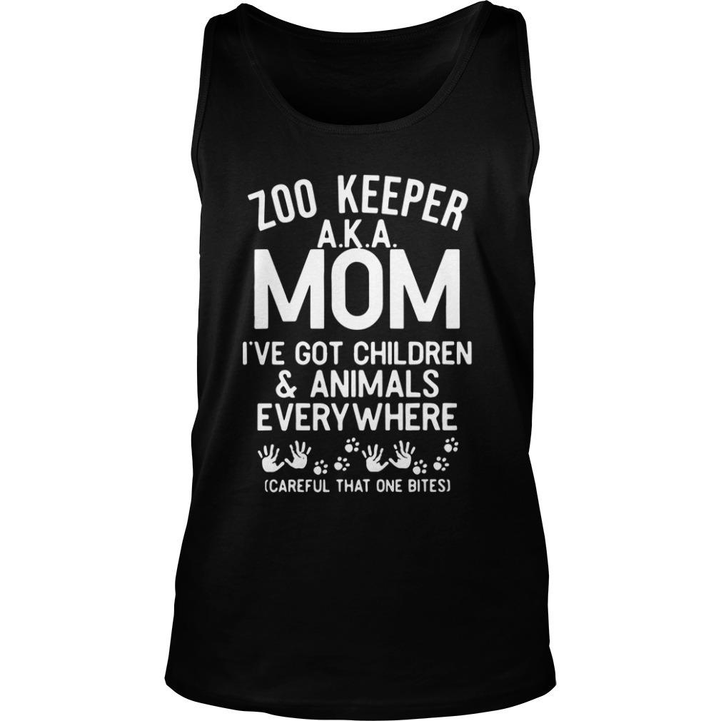 Zoo Keeper Aka Mom I've Got Children And Animals Kid Tank Top