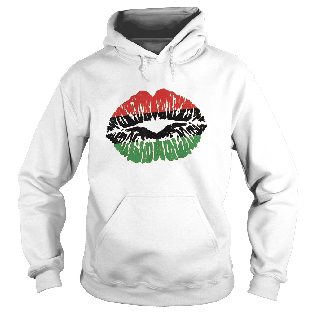 African Lips Flag Black History Month Hoodie