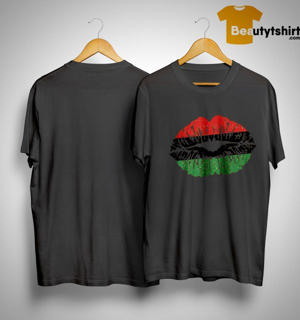 African Lips Flag Black History Month Shirt