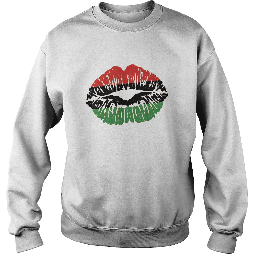 African Lips Flag Black History Month Sweater