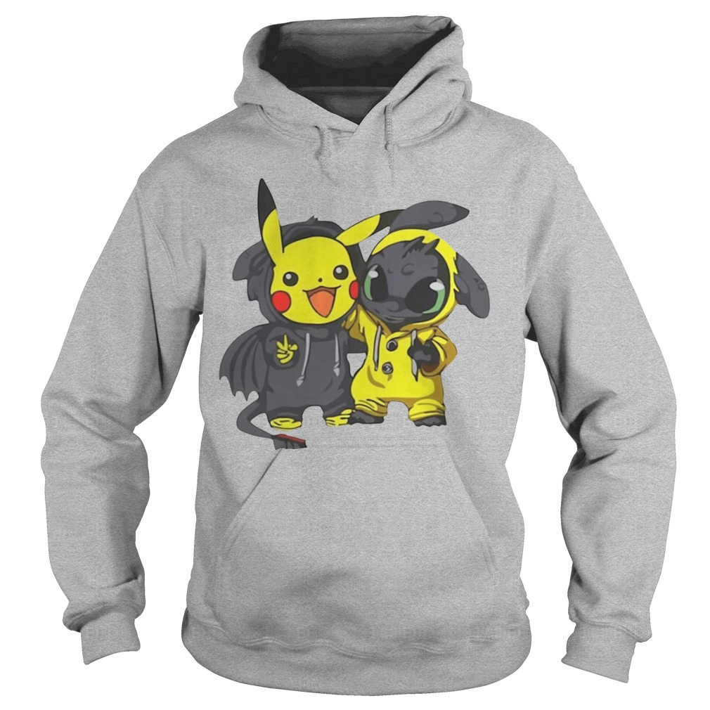 Baby Pikachu And Toothless Hoodie