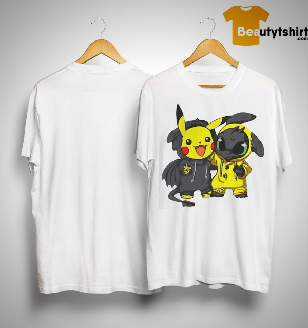Baby Pikachu And Toothless Shirt