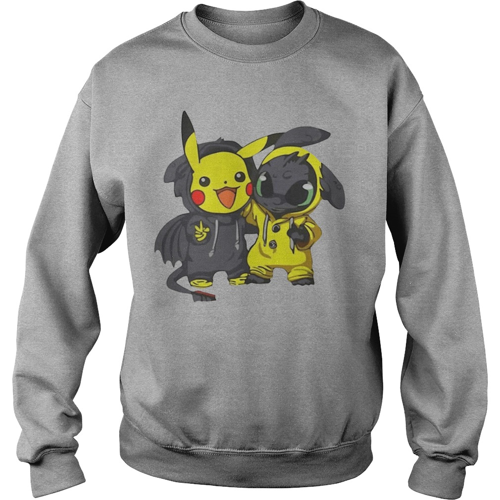 Baby Pikachu And Toothless Sweater