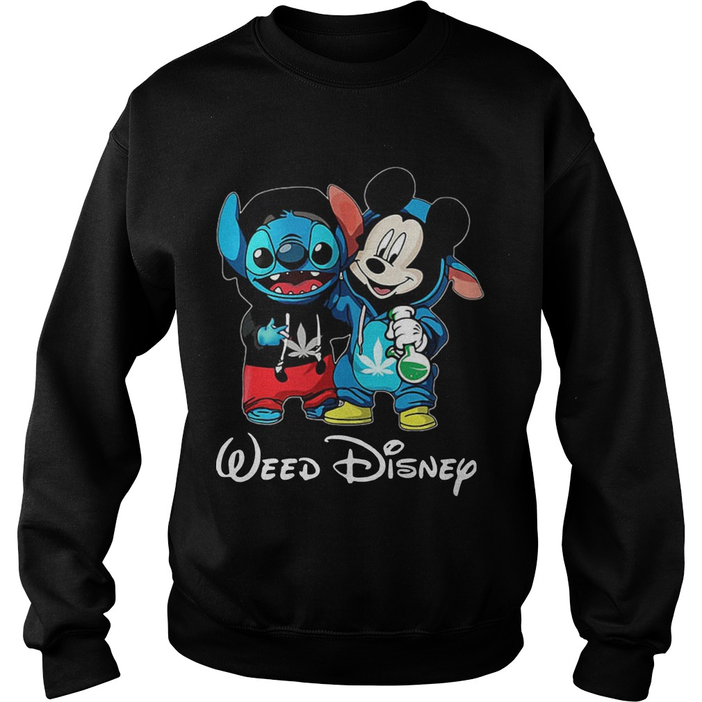 Baby Stitch And Mickey Mouse Weed Disney Sweater
