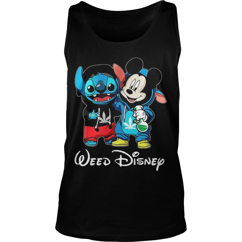 Baby Stitch And Mickey Mouse Weed Disney Tank Top