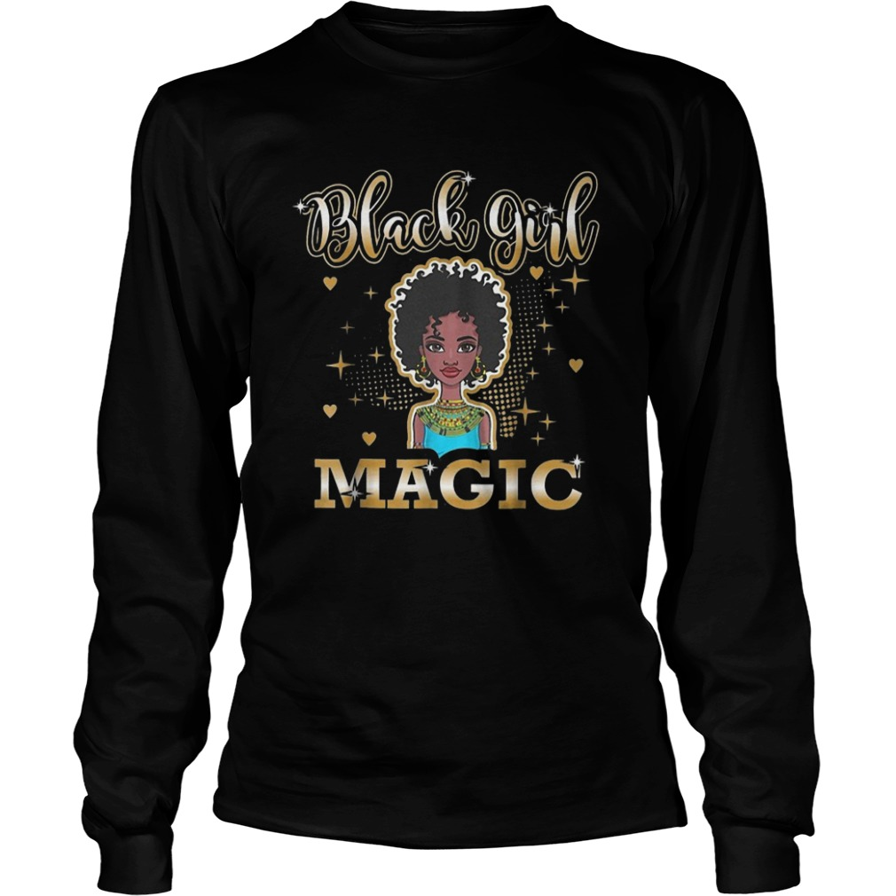 Black Girl Magic African Black History Month Longsleeve Tee