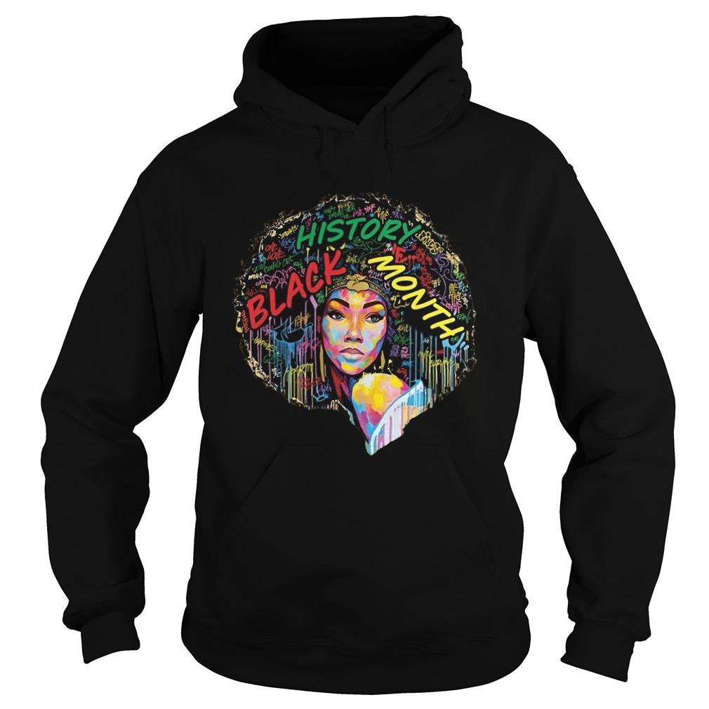 Black History Month Afro Word Art Natural Hair Hoodie