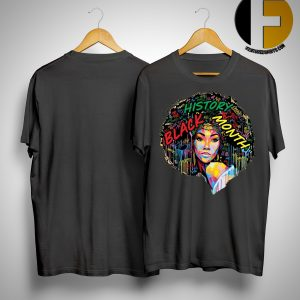 Black History Month Afro Word Art Natural Hair Shirt