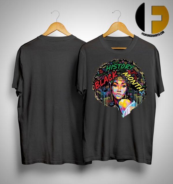 Black History Month Afro Word Art Natural Hair Shirt
