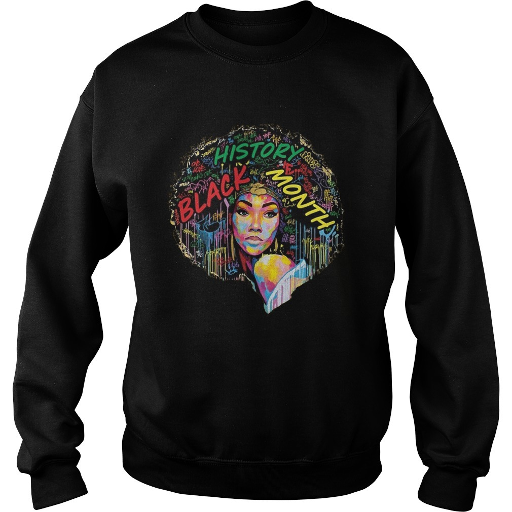 Black History Month Afro Word Art Natural Hair Sweater