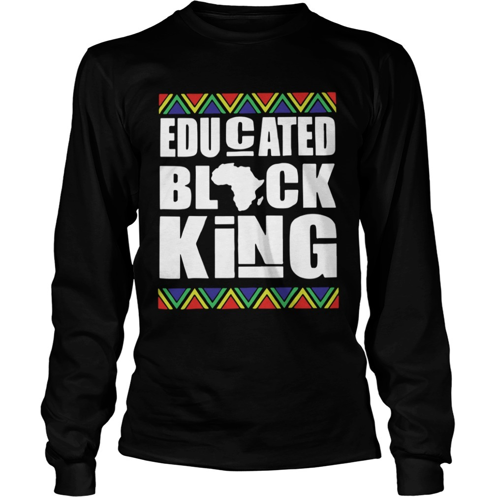 Black History Month Educated Black King Longsleeve Tee
