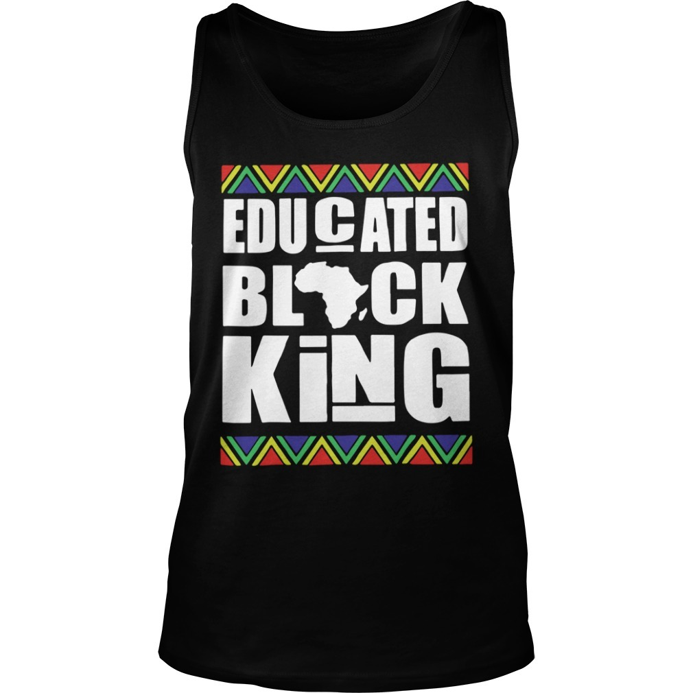 Black History Month Educated Black King Tank Top