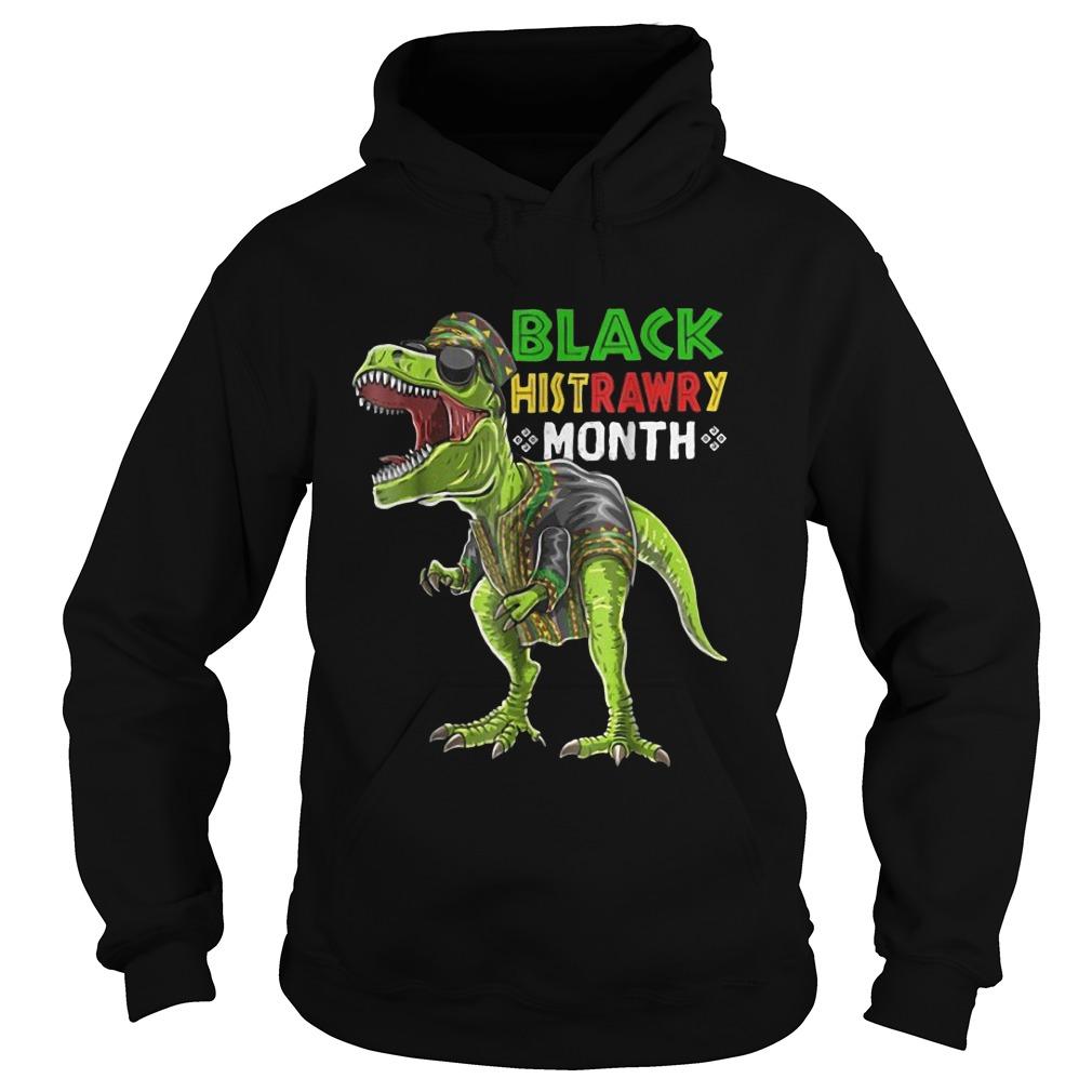 Black History Month T Rex Dinosaur African Hoodie