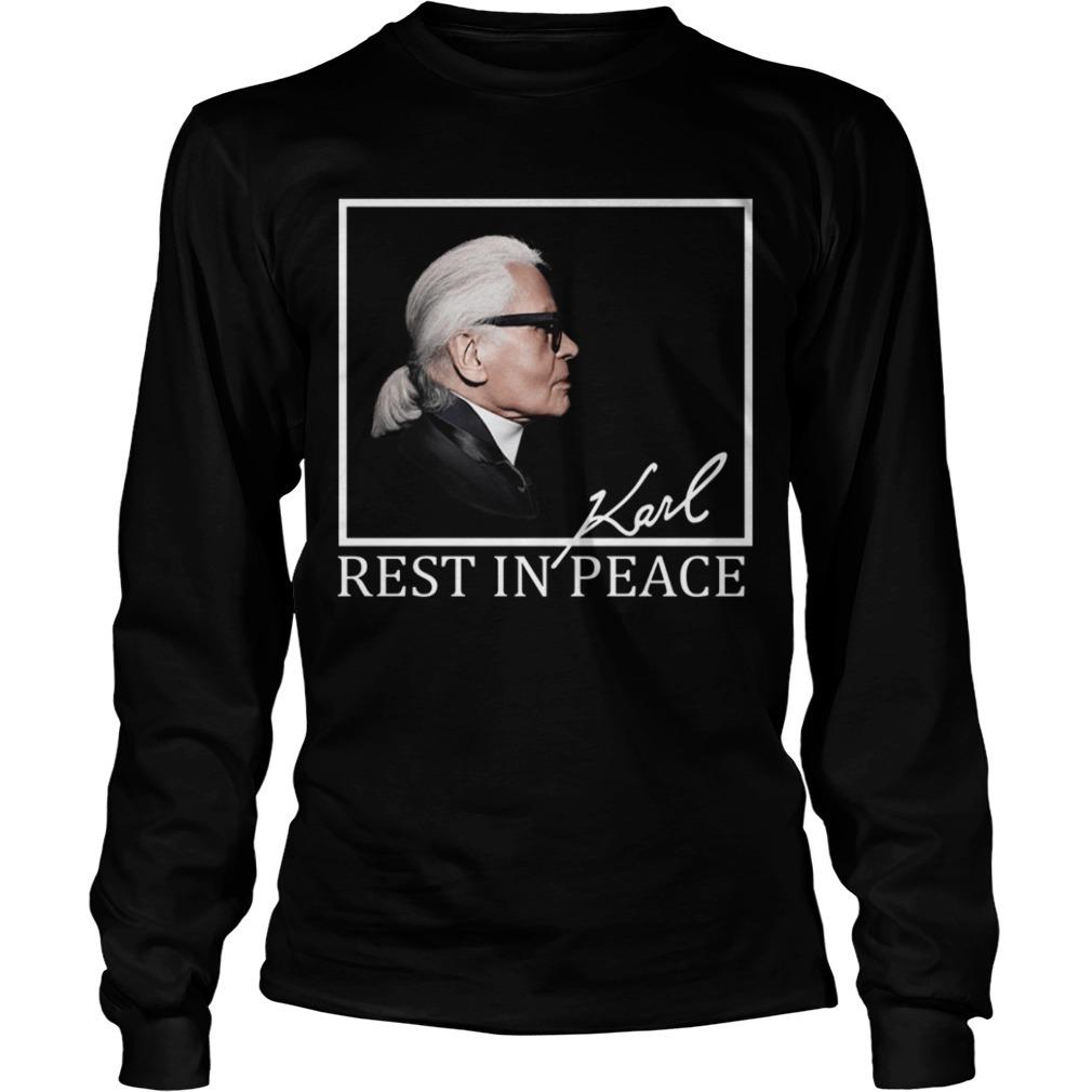 Karl Lagerfeld Rest In Peace Longsleeve Tee