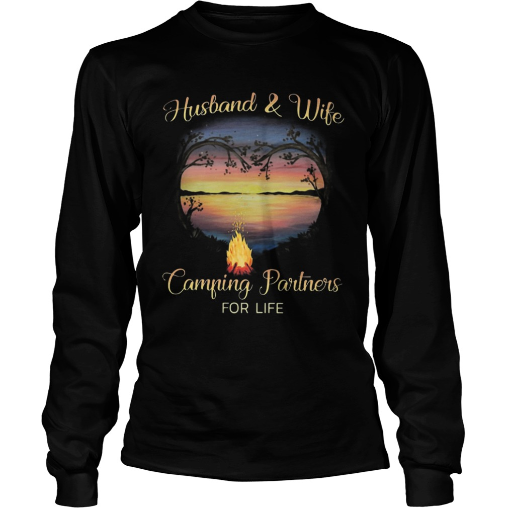 Husband And Wife Camping Partners For Life Longsleeve Tee