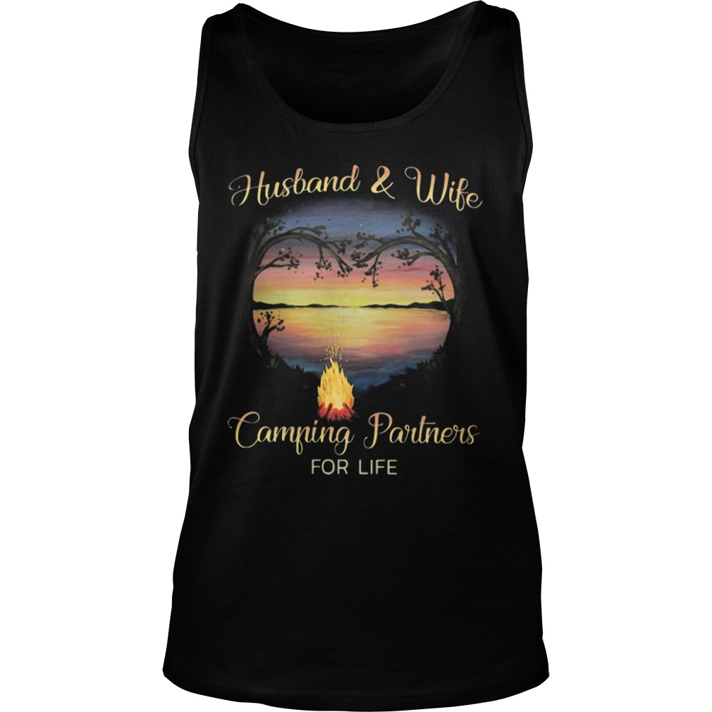Husband And Wife Camping Partners For Life Tank Top