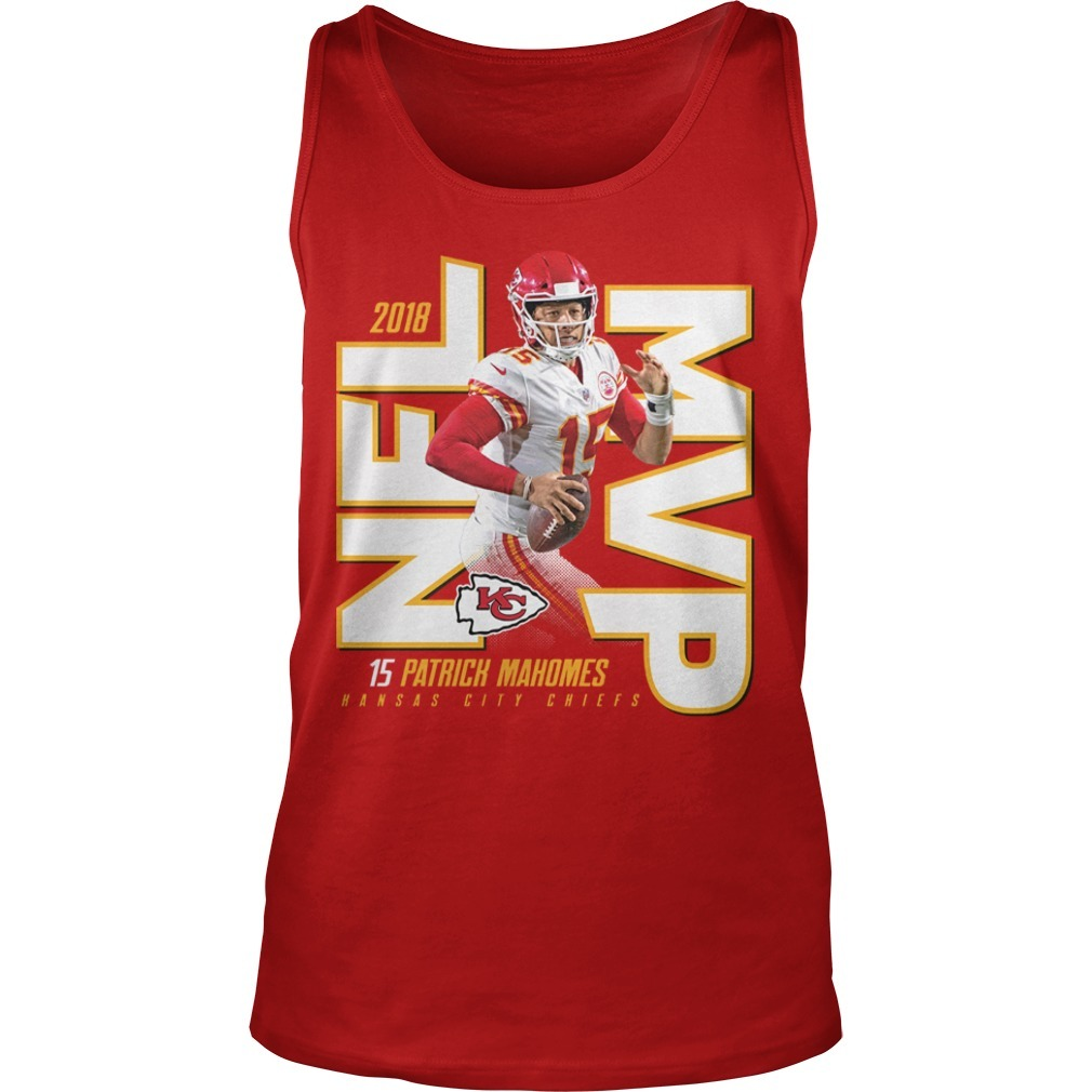 Kansas City Chiefs Patrick Mahomes 2018 NFL MVP Tank Top