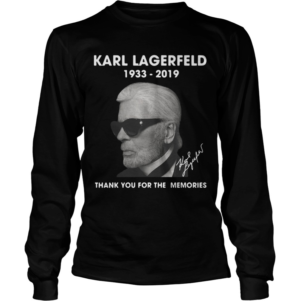 Karl Lagerfeld 1933 2019 Thank You For The Memories Longsleeve Tee