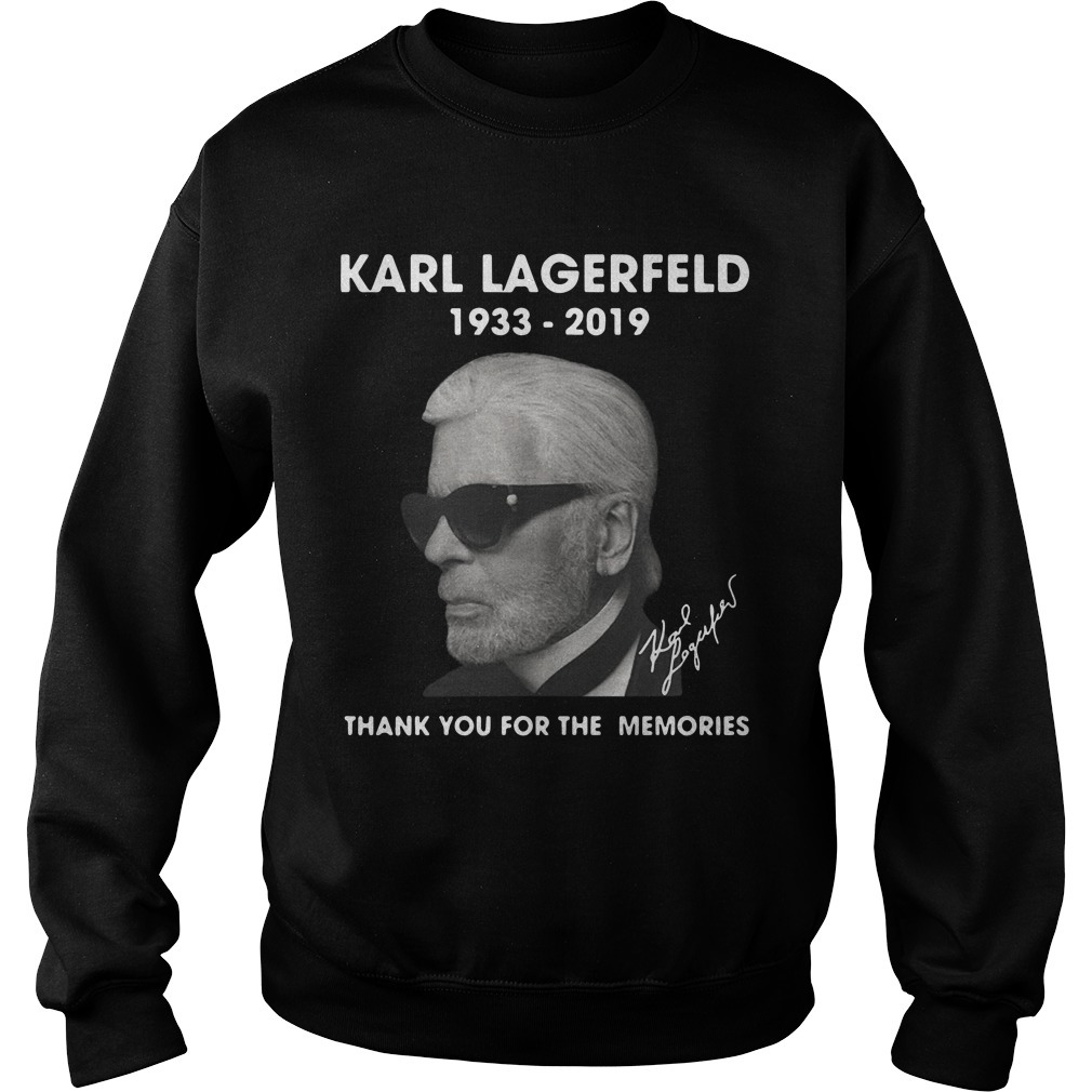 Karl Lagerfeld 1933 2019 Thank You For The Memories Sweater