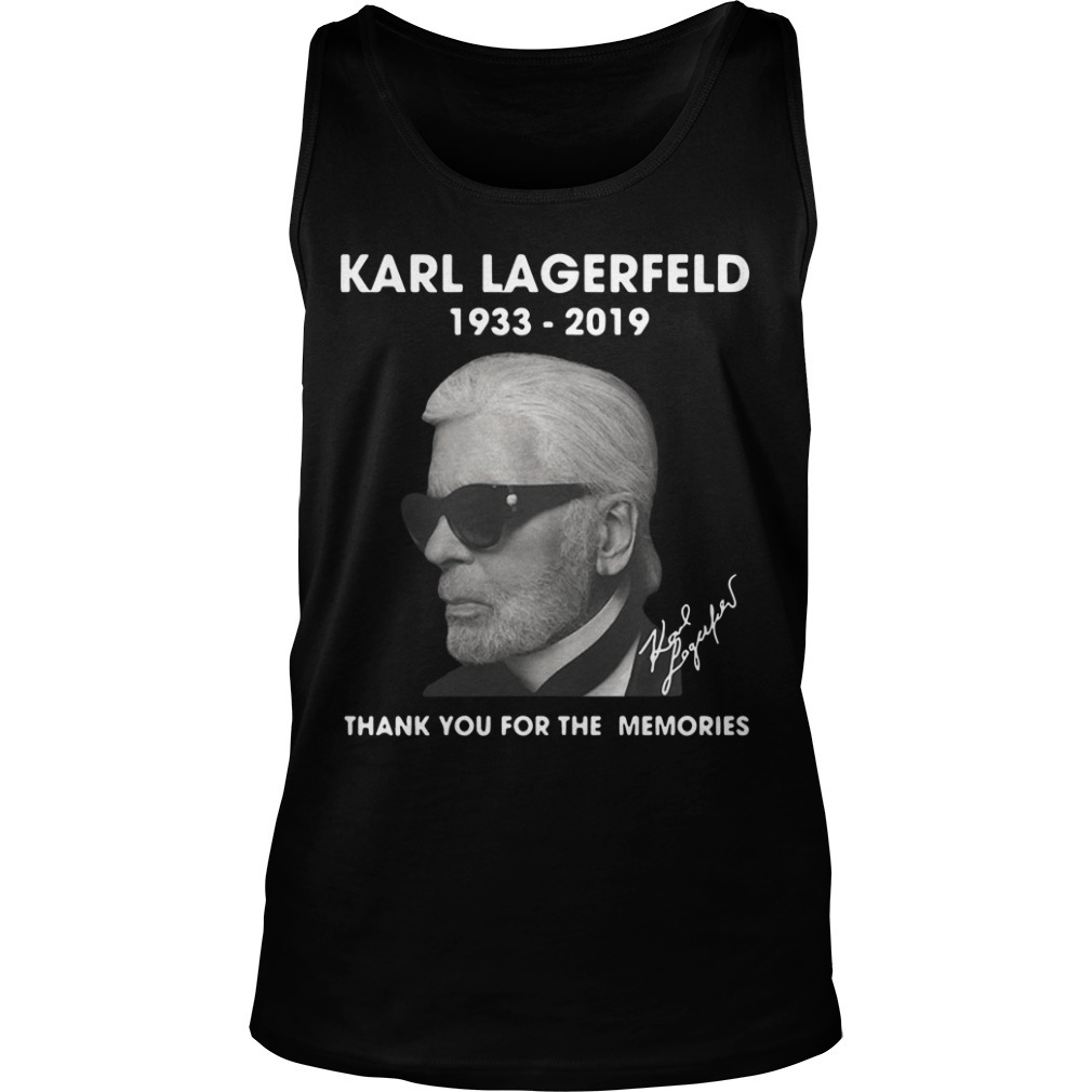 Karl Lagerfeld 1933 2019 Thank You For The Memories Tank Top