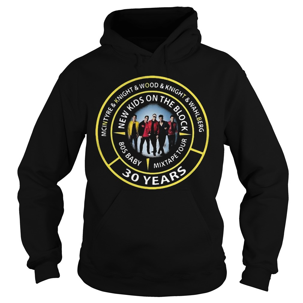 Mcintyre & Knight & Wood & Knight & Wahlberg New Kids On The Block 30 Years Hoodie