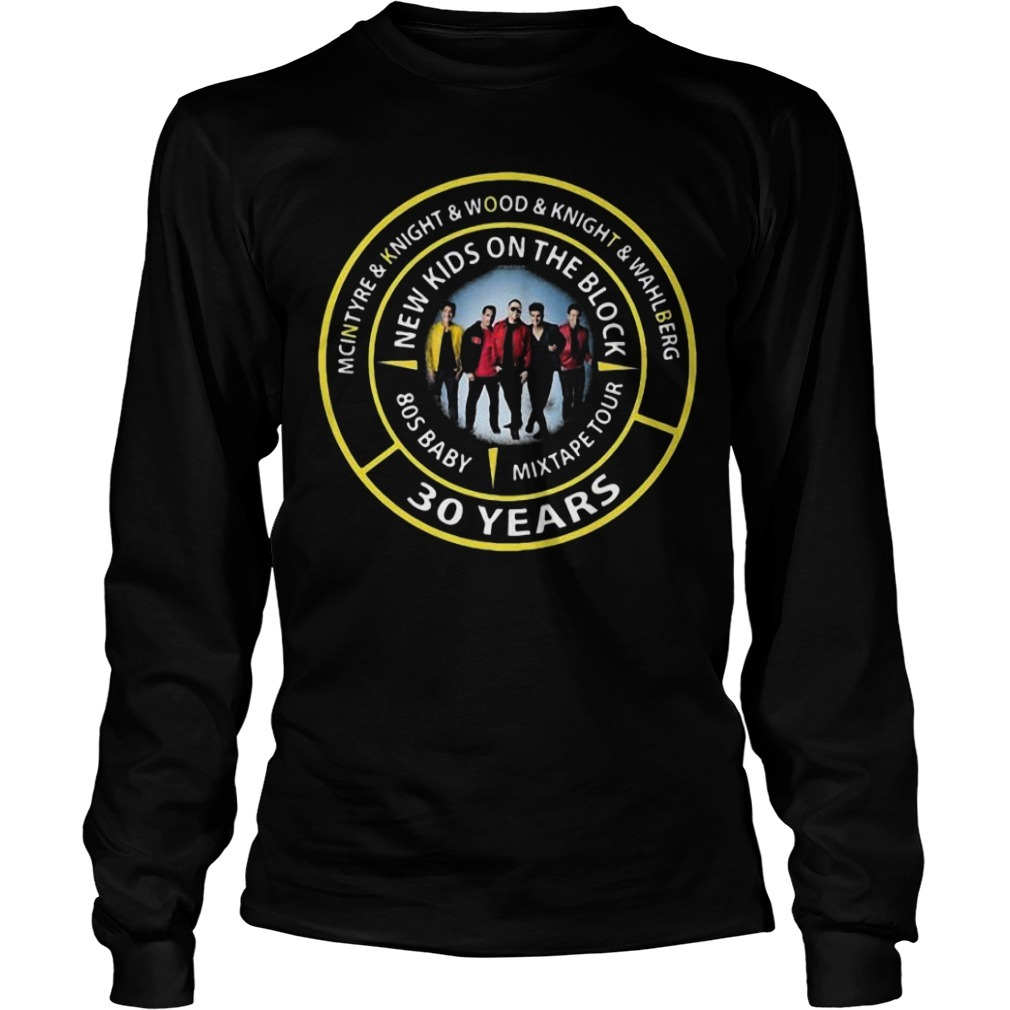 Mcintyre & Knight & Wood & Knight & Wahlberg New Kids On The Block 30 Years Longsleeve Tee