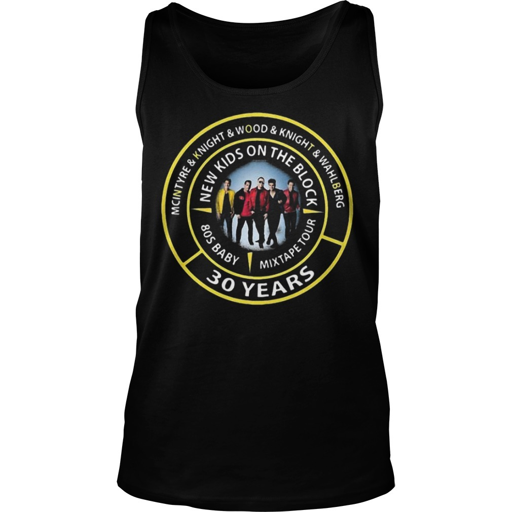 Mcintyre & Knight & Wood & Knight & Wahlberg New Kids On The Block 30 Years Tank Top
