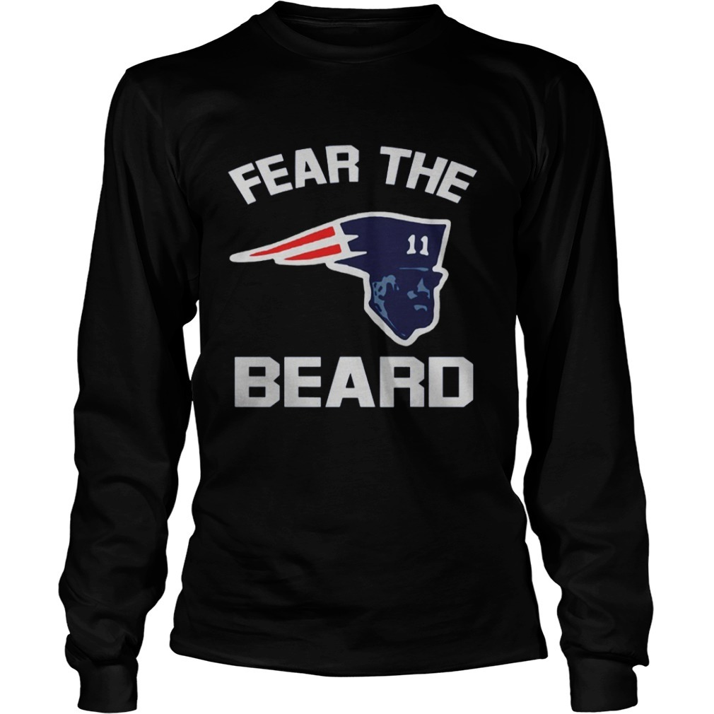 New England Patriots Fear The Beard Longsleeve Tee
